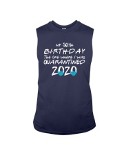 50th Birthday Quarantine T Shirt Sleeveless Tee thumbnail