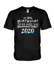 50th Birthday Quarantine T Shirt V-Neck T-Shirt thumbnail