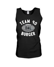 Team 40 Burger Shirt Unisex Tank thumbnail