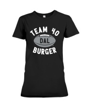 Team 40 Burger Shirt Premium Fit Ladies Tee thumbnail