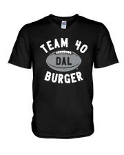 Team 40 Burger Shirt V-Neck T-Shirt thumbnail