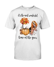 Beagle It's The Most Wonderful Time Of Year Shirt Classic T-Shirt front