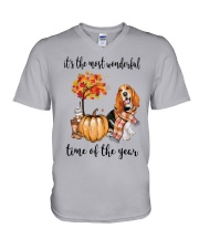 Beagle It's The Most Wonderful Time Of Year Shirt V-Neck T-Shirt thumbnail