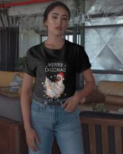 Santa Chicken Merrry Chicmas Shirt Classic T-Shirt apparel-classic-tshirt-lifestyle-05