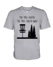 The Three Giveth The Tree Taketh Away Shirt V-Neck T-Shirt thumbnail