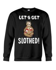 Sloth Drunken Let's Get Slothed Shirt Crewneck Sweatshirt thumbnail