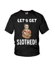 Sloth Drunken Let's Get Slothed Shirt Youth T-Shirt thumbnail