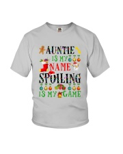 Christmas Auntie My Name Spoiling Is Game Shirt Youth T-Shirt thumbnail