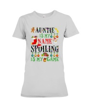 Christmas Auntie My Name Spoiling Is Game Shirt Premium Fit Ladies Tee thumbnail