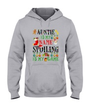 Christmas Auntie My Name Spoiling Is Game Shirt Hooded Sweatshirt thumbnail