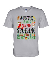 Christmas Auntie My Name Spoiling Is Game Shirt V-Neck T-Shirt thumbnail