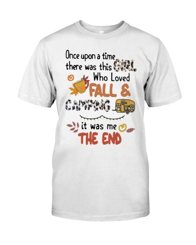 There Was This Girl Who Loves Fall Camping Shirt