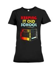 Dj Keeping It Old School Shirt Premium Fit Ladies Tee thumbnail