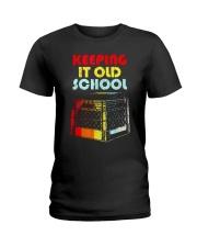 Dj Keeping It Old School Shirt Ladies T-Shirt thumbnail