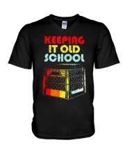 Dj Keeping It Old School Shirt V-Neck T-Shirt thumbnail