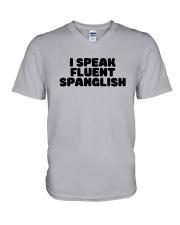 I Speak Fluent Spanglish Shirt V-Neck T-Shirt thumbnail