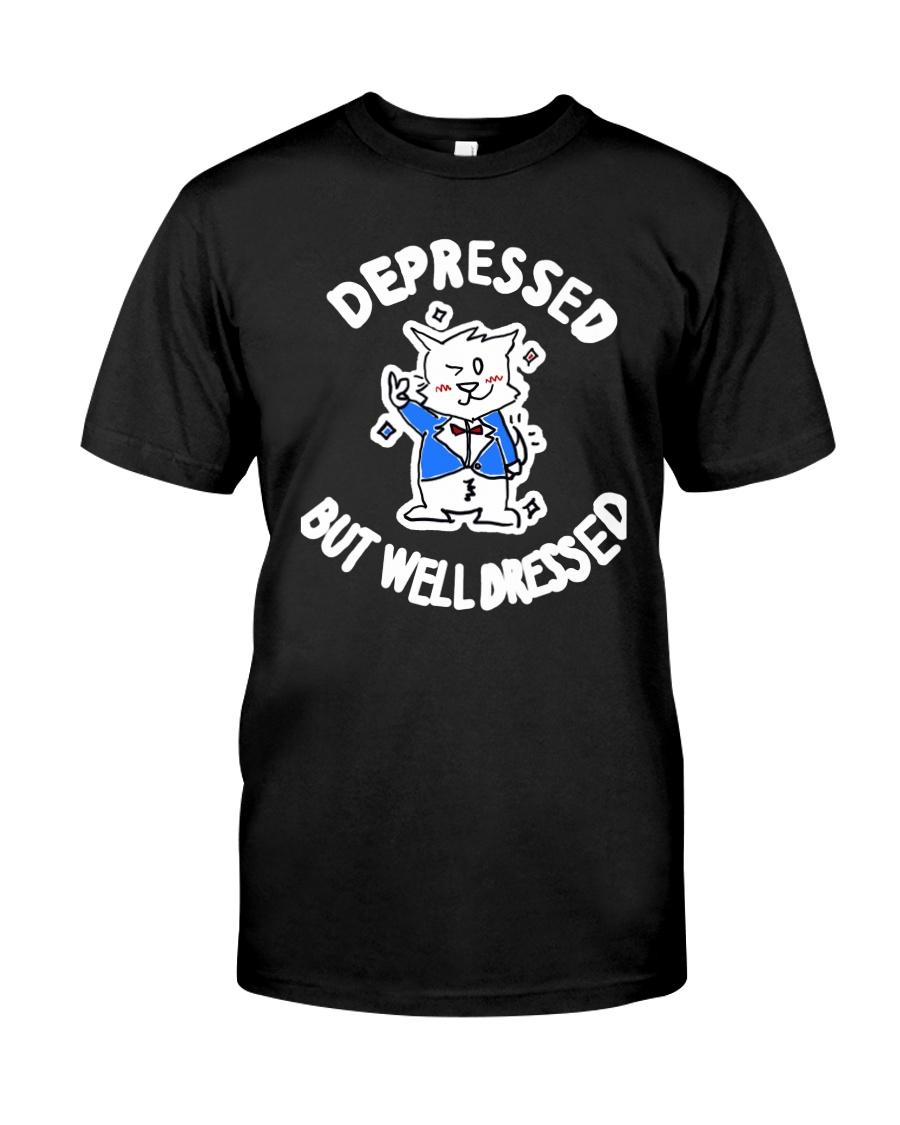 Cat Depressed But Well Dressed Shirt Classic T-Shirt