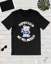 Cat Depressed But Well Dressed Shirt Classic T-Shirt lifestyle-mens-crewneck-front-17