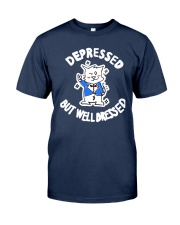 Cat Depressed But Well Dressed Shirt Classic T-Shirt tile