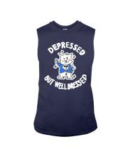 Cat Depressed But Well Dressed Shirt Sleeveless Tee thumbnail