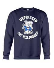 Cat Depressed But Well Dressed Shirt Crewneck Sweatshirt thumbnail