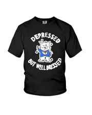 Cat Depressed But Well Dressed Shirt Youth T-Shirt thumbnail