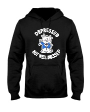 Cat Depressed But Well Dressed Shirt Hooded Sweatshirt thumbnail