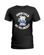 Cat Depressed But Well Dressed Shirt Ladies T-Shirt thumbnail