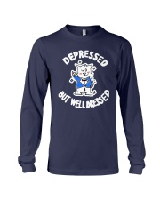 Cat Depressed But Well Dressed Shirt Long Sleeve Tee thumbnail