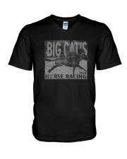 Big Cats Horse Racing Shirt V-Neck T-Shirt thumbnail
