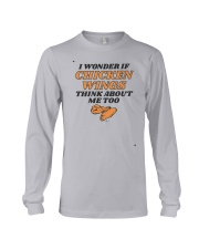 I Wonder If Chicken Wings Think About Me Too Shirt Long Sleeve Tee thumbnail