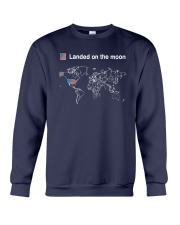 American Flag Landed On The Moon Shirt Crewneck Sweatshirt thumbnail
