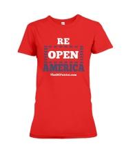 Re Open America Shirt Premium Fit Ladies Tee thumbnail