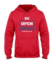 Re Open America Shirt Hooded Sweatshirt thumbnail