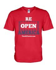 Re Open America Shirt V-Neck T-Shirt thumbnail