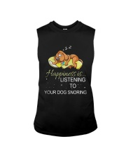 Happiness Is Listening To Your Dog Snoring Shirt Sleeveless Tee thumbnail