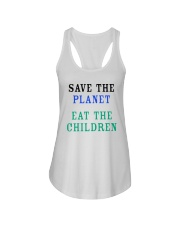 Official Save The Planet Eat The Children Shirt Ladies Flowy Tank thumbnail