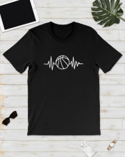 Basketball Heartbeat Shirt Classic T-Shirt lifestyle-mens-crewneck-front-17