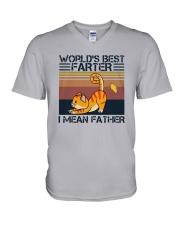Vintage Cat Worlds Best Farter I Mean Shirt V-Neck T-Shirt thumbnail