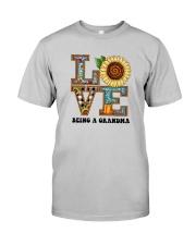 Sunflower Love Being A Grandma Shirt Classic T-Shirt tile