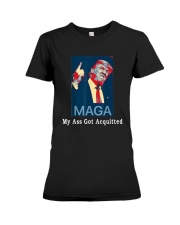 Trump Maga My Ass Got Acquitted Shirt Premium Fit Ladies Tee tile