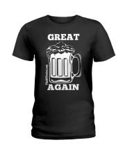 St Patricks' Day Beer Great Again Shirt Ladies T-Shirt thumbnail