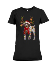 Gsp Reindeer Christmas Light Shirt Premium Fit Ladies Tee thumbnail