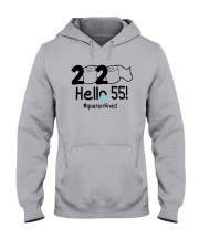 2020 Hello 55 Quarantined Shirt Hooded Sweatshirt thumbnail