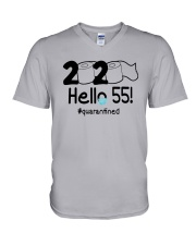2020 Hello 55 Quarantined Shirt V-Neck T-Shirt thumbnail