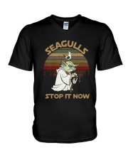 Vintage Seagulls Stop It Now Shirt V-Neck T-Shirt thumbnail