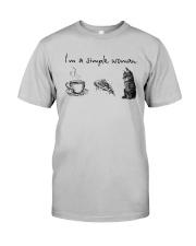 I'm A Simple Woman Tea Pizza Cat Shirt Classic T-Shirt tile