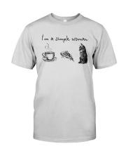 I'm A Simple Woman Tea Pizza Cat Shirt Premium Fit Mens Tee thumbnail