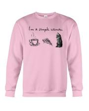 I'm A Simple Woman Tea Pizza Cat Shirt Crewneck Sweatshirt thumbnail