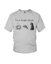 I'm A Simple Woman Tea Pizza Cat Shirt Youth T-Shirt thumbnail